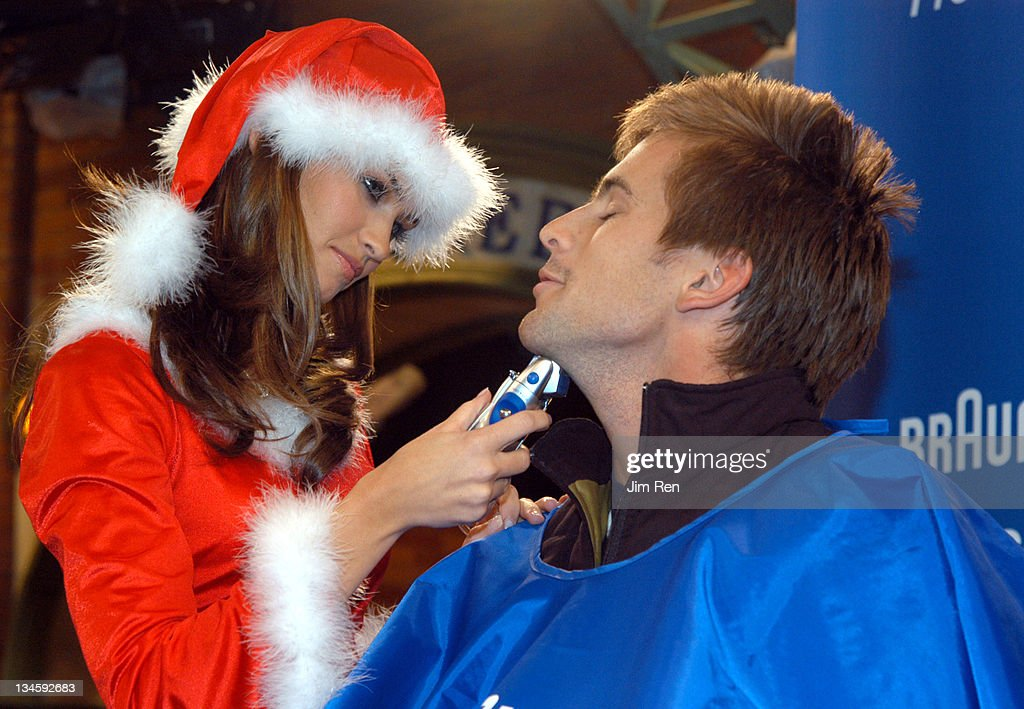 Playboy Playmates and Braun Freeglider Host Pre-Holiday Personal Shave Session In Times Square : News Photo