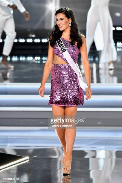Miss Finland 2017 Michaela Soderholm competes during the 2017 Miss Universe Pageant at The Axis at Planet Hollywood Resort Casino on November 26 2017...