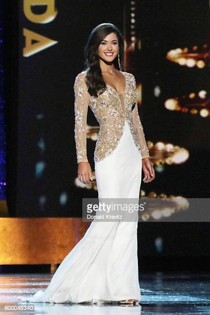 Miss Florida Courtney Sexton appears onstage during Miss America 2017 2nd Night of Preliminary Competition at Boardwalk Hall Arena on September 7...