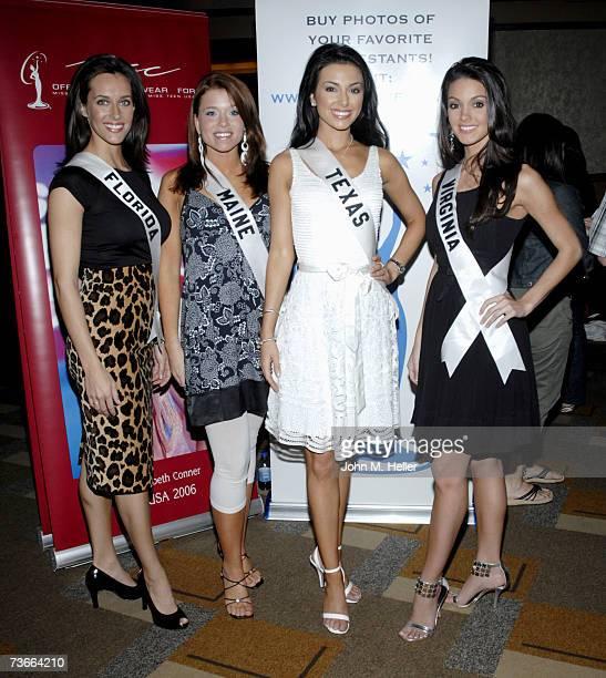 Miss Florida Jenna Edwards Miss Maine Erin Good Miss Texas Magen Ellis and Miss Virginia Lauren Elizabeth Barnette attend the 2007 Miss USA Pageant...