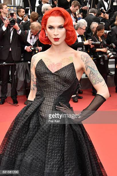 Miss Frame attends 'The BFG ' premiere during the 69th annual Cannes Film Festival at the Palais des Festivals on May 14, 2016 in Cannes, France.
