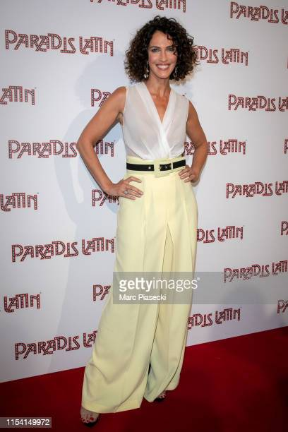 Miss France 1992 Linda Hardy attends the L'Oiseau Paradis show at Le Paradis Latin on June 06, 2019 in Paris, France.