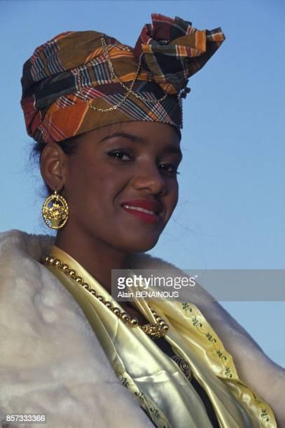 Miss France 1993 Veronique de la Cruz exmiss Guadeloupe le 29 decembre 1993 en France