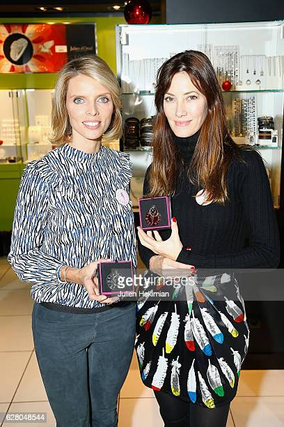 Miss France 2002 and General Director of the Miss France Society Sylvie Tellier and Miss France 1999 Mareva Galanter attend Les Bonnes Fees Julien...