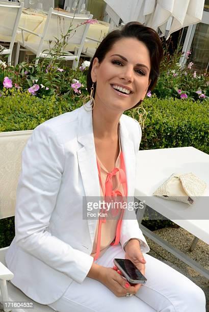Miss France 2004 Laetitia Bleger attends the 'Open des Dames Ladies Charriol' Finales Party At Polo De Paris on June 26 2013 in Paris France