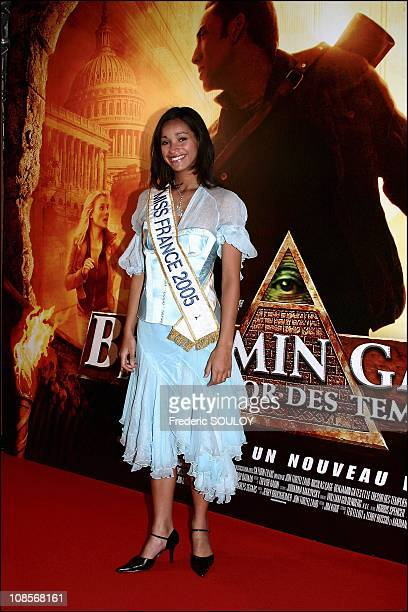 Miss France 2005 Cindy Fabre in Paris France on December 07th 2004