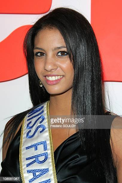 Miss France 2009 Chloe Mortaud at the 'Beaubourg Center' in Paris France on May 27 2009