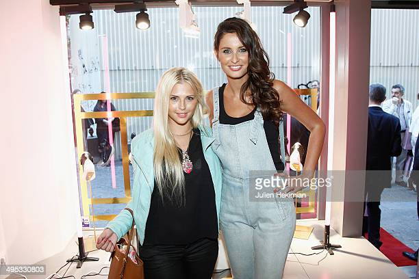 Miss France 2010 Malika Menard and Kelly Vedovelli attend Marion Bartoli By Musette Launches 'Premier Envol' Collection on June 2, 2014 in Paris,...