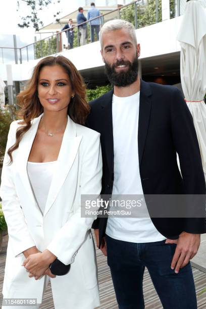 Miss France 2010 Malika Menard and Tennis Player Benoit Paire attend the 2019 French Tennis Open Day Fourteen at Roland Garros on June 08 2019 in...