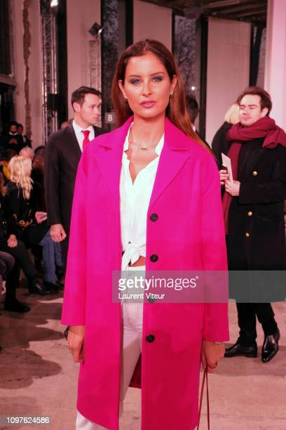 Miss France 2010 Malika Menard attends the Georges Chakra Haute Couture Spring Summer 2019 show as part of Paris Fashion Week on January 21 2019 in...