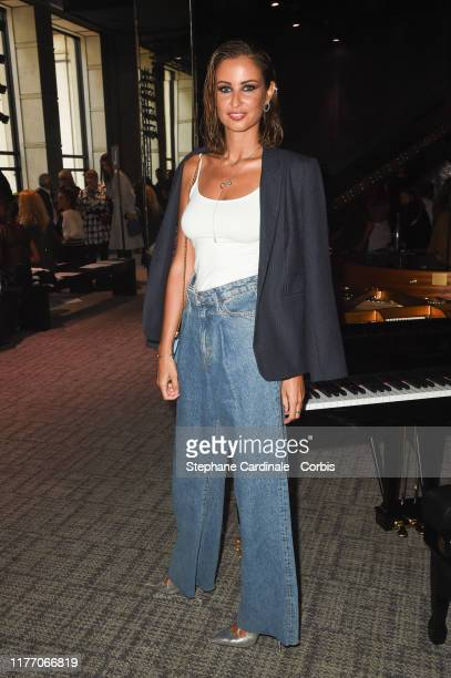 Miss France 2010 Malika Menard attends the Guy Laroche Womenswear Spring/Summer 2020 show as part of Paris Fashion Week on September 25 2019 in Paris...