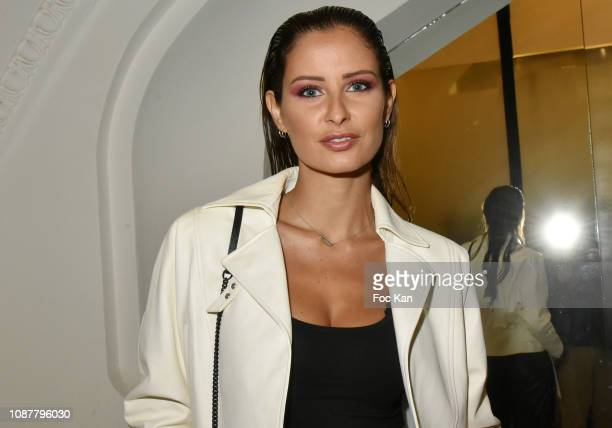 Miss France 2010 Malika Menard attends the JeanPaul Gaultier Haute Couture Spring Summer 2019 show as part of Paris Fashion Week on January 23 2019...