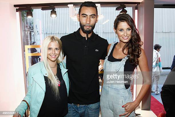 Miss France 2010 Malika Menard , Kelly Vedovelli and La Fouine attend Marion Bartoli By Musette Launches 'Premier Envol' Collection on June 2, 2014...