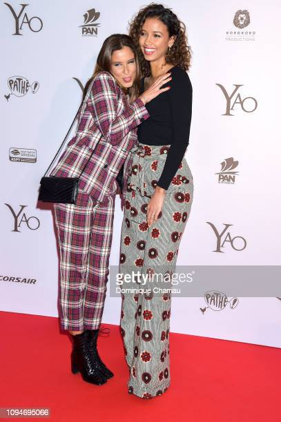 Miss France 2010 Malika Mesnard and Miss France 2014 Flora Coquerel attend the YAO Paris Premiere at Le Grand Rex on January 15 2019 in Paris France