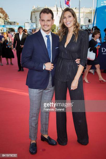 Miss France 2011 Laury Thilleman and her companion Colombian chef Juan Arbelaez arrive for the screening of the film 'Good Time' during the 43rd...