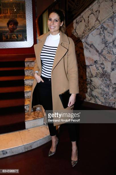 Miss France 2011 Laury Thilleman attends the Lion Paris premiere at Cinema Gaumont Opera on February 10 2017 in Paris France