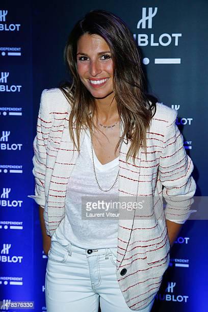 Miss France 2011 Laury Thillman attends the Hublot Blue Coktail at Mr Bleu at Palais de Tokyo on June 24 2015 in Paris France