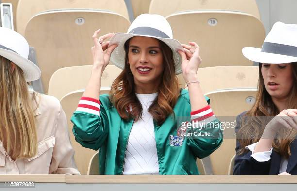 Miss France 2013 Marine Lorphelin attends day 5 of the 2019 French Open at Roland Garros stadium on May 30 2019 in Paris France