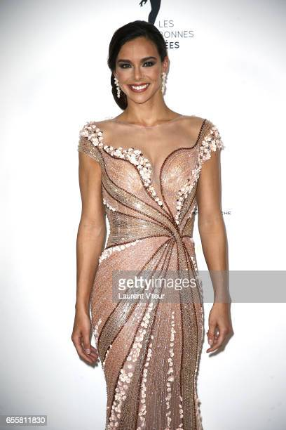 Miss France 2013 Marine Lorphelin attends Les Bonnes Fees Charity Gala at Hotel D'Evreux on March 20 2017 in Paris France