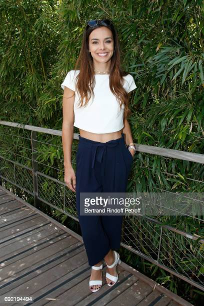Miss France 2013, Marine Lorphelin attends the 2017 French Tennis Open - Day Height at Roland Garros on June 4, 2017 in Paris, France.