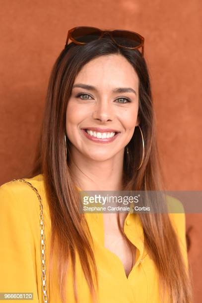 Miss France 2013 Marine Lorphelin attends the 2018 French Open Day Eight at Roland Garros on June 3 2018 in Paris France
