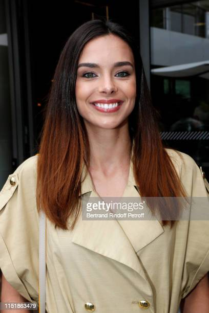 Miss France 2013 Marine Lorphelin attends the 2019 French Tennis Open - Day One at Roland Garros on May 26, 2019 in Paris, France.