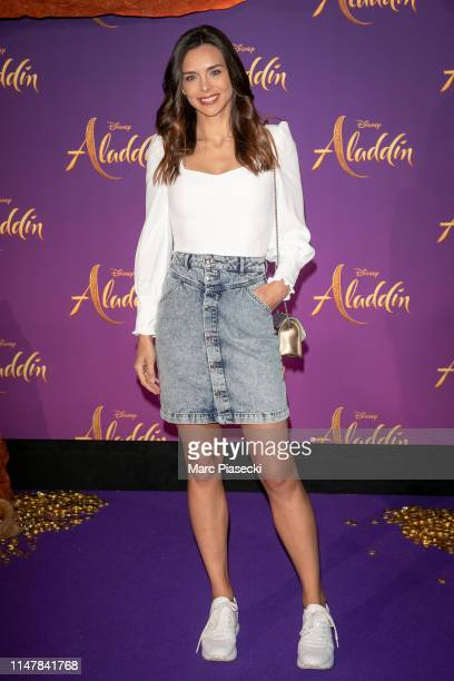 "Miss France 2013 Marine Lorphelin attends the ""Aladdin"" Paris Gala Screening at Cinema Le Grand Rex on May 08 2019 in Paris France"