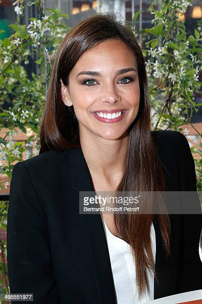 Miss France 2013 Marine Lorphelin attends the Roland Garros French Tennis Open 2014 - Day 11 on June 4, 2014 in Paris, France.