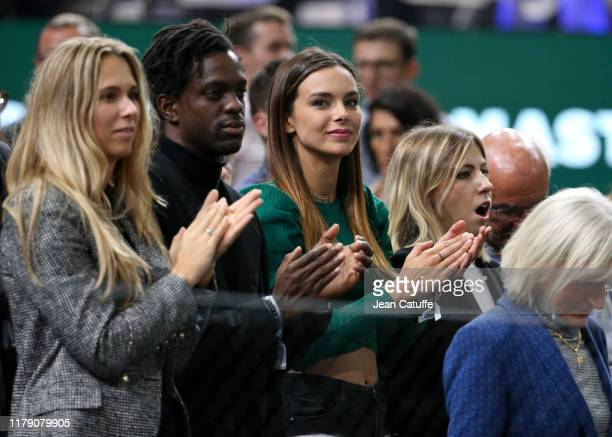 Miss France 2013 Marine Lorphelin attends the victories of Rafael Nadal of Spain and Jo-Wilfried Tsonga during day 3 of the Rolex Paris Masters 2019,...