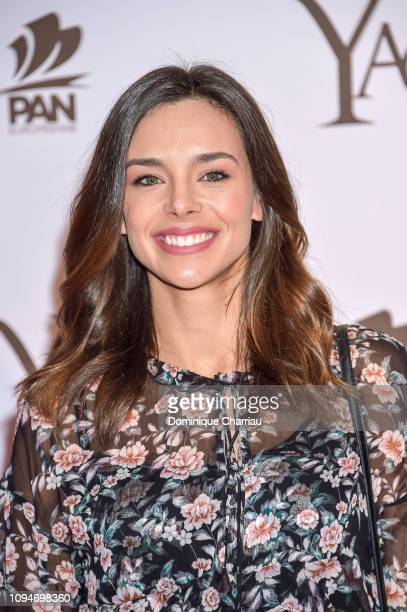 Miss France 2013 Marine Lorphelin attends the YAO Paris Premiere at Le Grand Rex on January 15 2019 in Paris France
