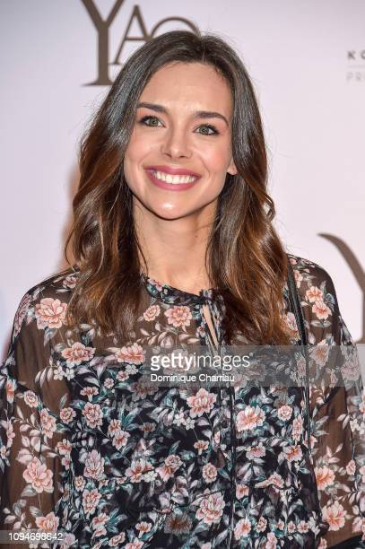"""Miss France 2013 Marine Lorphelin attends the """" YAO """" Paris Premiere at Le Grand Rex on January 15, 2019 in Paris, France."""