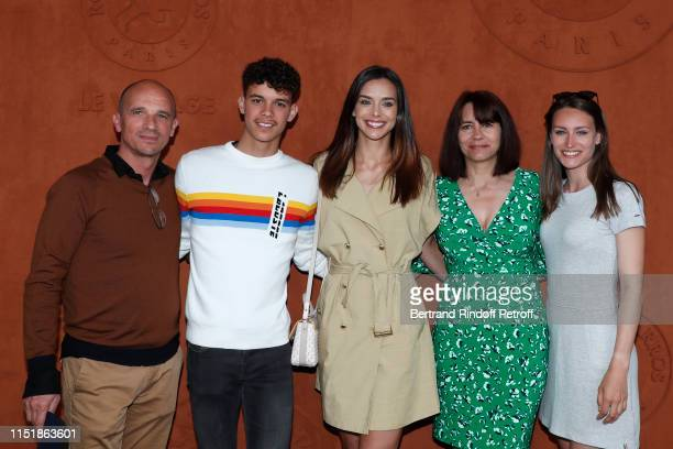 Miss France 2013 Marine Lorphelin , her father Philippe Lorphelin , her mother Sandrine Lorphelin , her sister Lou-Anne Lorphelin and her brother...