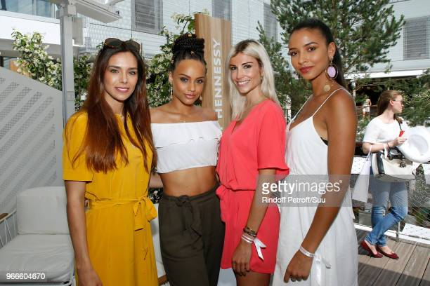 Miss France 2013 Marine Lorphelin Miss France 2017 Alicia Aylies Miss France 2006 Alexandra Rosenfeld and Miss France 2014 Flora Coquerel attend the...