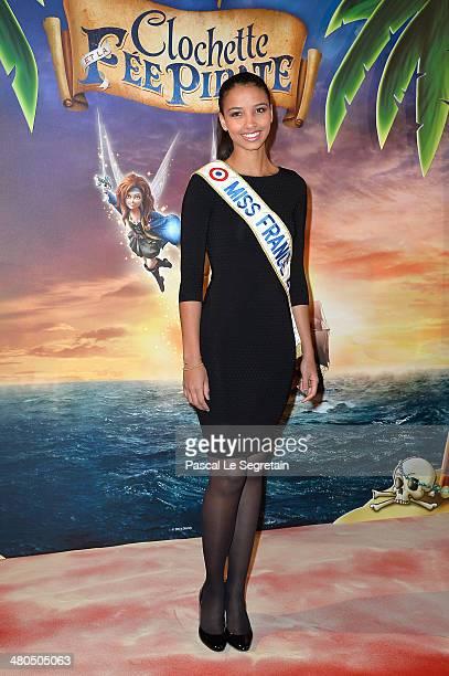 Miss France 2014 Flora Coquerel attends 'Clochette et la Fee Pirate' Premiere at Gaumont Champs Elysees on March 25, 2014 in Paris, France.