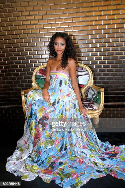 Miss France 2014 Flora Coquerel attends the Jean Paul Gaultier Haute Couture Fall/Winter 20172018 show as part of Haute Couture Paris Fashion Week on...