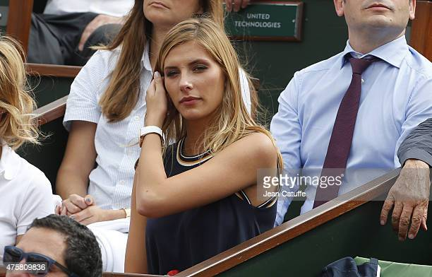 Miss France 2015 Camille Cerf attends day 10 of the French Open 2015 at Roland Garros stadium on June 2, 2015 in Paris, France.