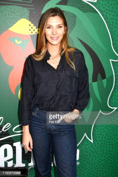 """Miss France 2015 Camille Cerf attends """"Smash Perrier"""" Party at Tour Perrier Champs de Mars on May 29, 2019 in Paris, France."""