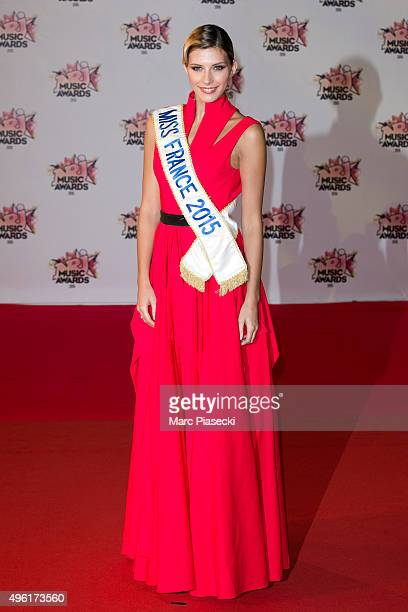 Miss France 2015 Camille Cerf attends the 17th NRJ Music Awards ceremony at Palais des Festivals on November 7 2015 in Cannes France