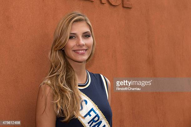 Miss France 2015 Camille Cerf attends the French Open at Roland Garros on June 2, 2015 in Paris, France.