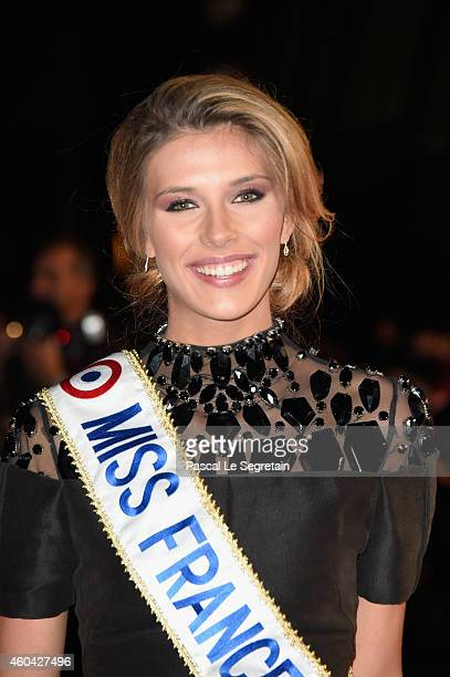 Miss France 2015 Camille Cerf attends the NRJ Music Awards at Palais des Festivals on December 13 2014 in Cannes France