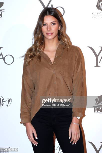 """Miss France 2015, Camille Cerf attends the """"YAO"""" Paris Premiere at Le Grand Rex on January 15, 2019 in Paris, France."""
