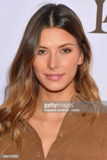 """Miss France 2015, Camille Cerf attends """"Yao"""" Paris Premiere at Le Grand Rex on January 15, 2019 in Paris, France."""