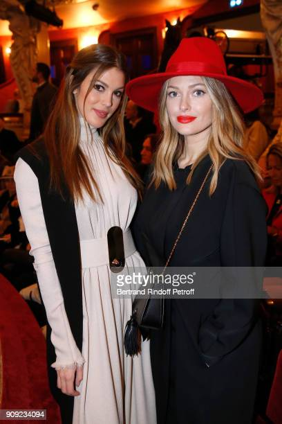 Miss France 2016 and Miss Univers 2016 Iris Mittenaere and Caroline Receveur attend the Stephane Rolland Haute Couture Spring Summer 2018 show as...