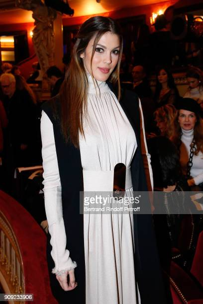 Miss France 2016 and Miss Univers 2016 Iris Mittenaere attends the Stephane Rolland Haute Couture Spring Summer 2018 show as part of Paris Fashion...
