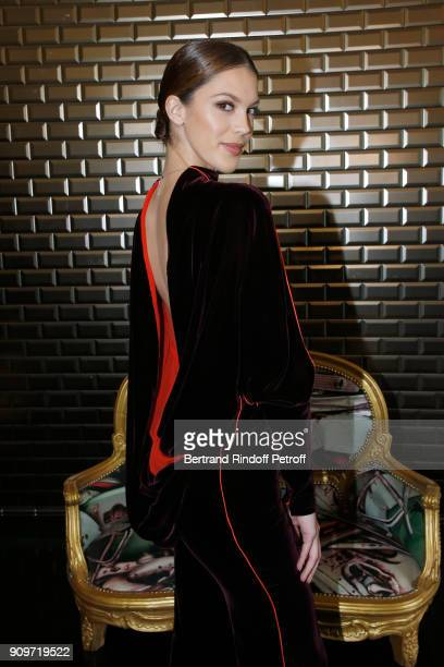 Miss France 2016 and Miss Univers 2016 Iris Mittenaere attends the JeanPaul Gaultier Haute Couture Spring Summer 2018 show as part of Paris Fashion...