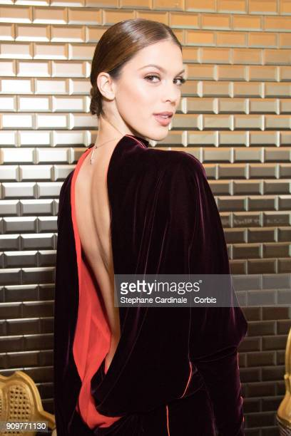 Miss France 2016 and Miss Univers 2016 Iris Mittenaere attends the Jean Paul Gaultier Haute Couture Spring Summer 2018 show as part of Paris Fashion...