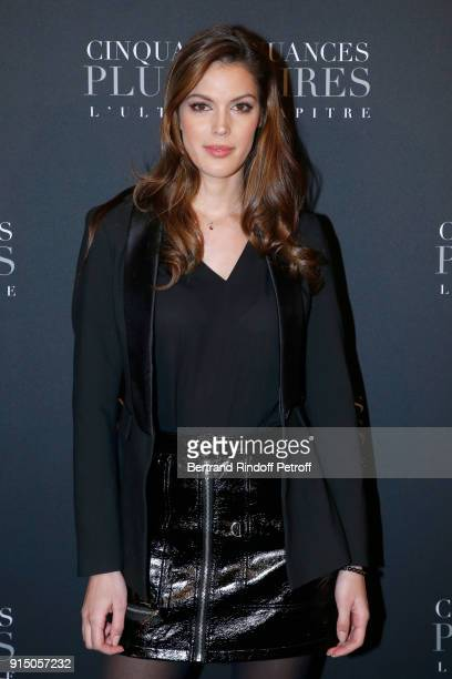 Miss France 2016 and Miss Univers 2016 Iris Mittenaere attends the 'Fifty Shades Freed 50 Nuances Plus Clair' Paris Premiere at Salle Pleyel on...