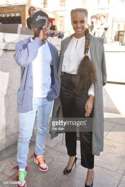 Miss France 2017 Alicia Aylies and her guest attend the Guy Laroche show as part of Paris Fashion Week Womenswear Spring/Summer 2019 on September 26...