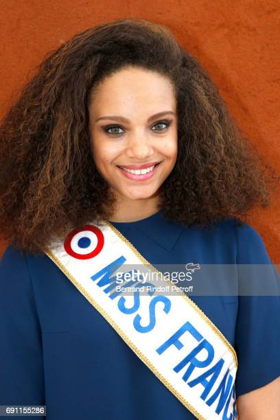 Miss france 2017 Alicia Aylies attend the 2017 French Tennis Open Day Five at Roland Garros on June 1 2017 in Paris France