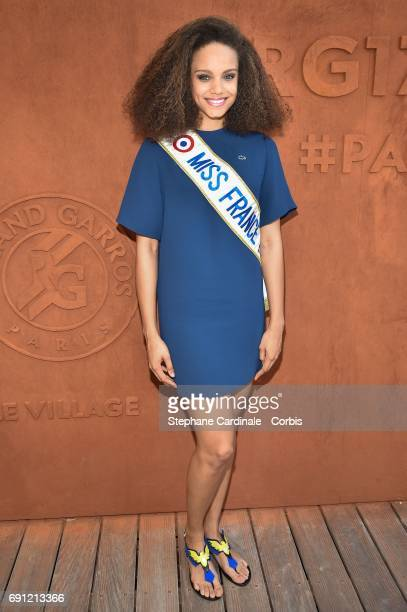 Miss france 2017 Alicia Aylies attends the 2017 French Tennis Open Day Five at Roland Garros on June 1 2017 in Paris France